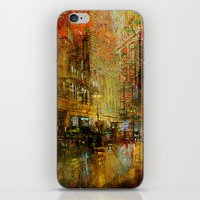 detroit iPhone & iPod Skins featuring An evening in Detroit by Joe Ganech