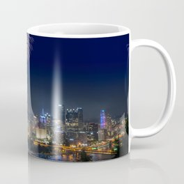 Fireworks over Pittsburgh on 4th July Coffee Mug