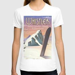 Whistler British Columbia Canadian Snowboarding T-shirt