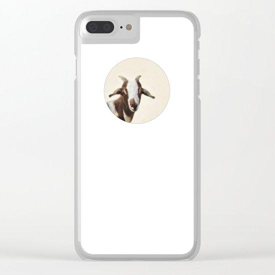 Goat Portrait Clear iPhone Case