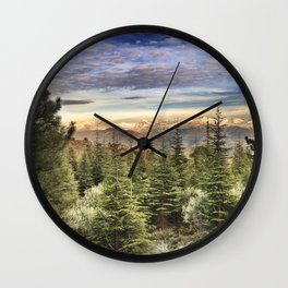 """""""Wildderness"""". Adventure at the mountains... Wall Clock"""