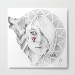wolves spirit Metal Print