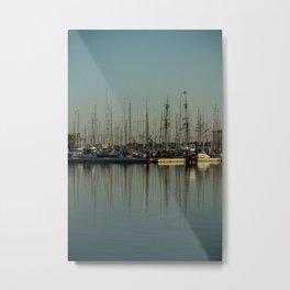 St. Malo Masts Metal Print