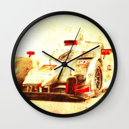 R18 2015 race car automovil de carreras Wall Clock