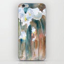 White Tulips iPhone Skin