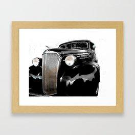 shiny black fenders Framed Art Print