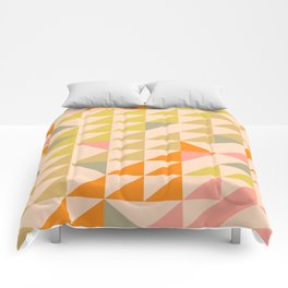 Mellow Triangles Comforters