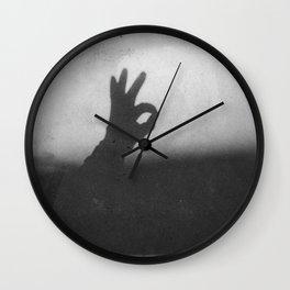 OK (B&W) Wall Clock
