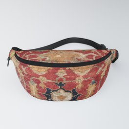 Indo Esfahan Central Persian Rug Fragment Print Fanny Pack
