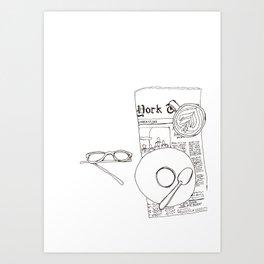Sunday Paper and Espresso Art Print