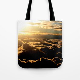 Sunset over the Atlantic Ocean Tote Bag