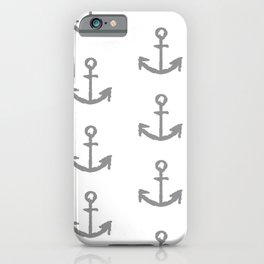 Anchors - white with gray iPhone Case