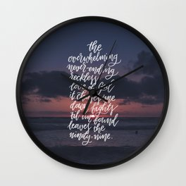 Reckless Love Wall Clock