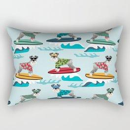 schnauzer surfing dog breed pattern Rectangular Pillow