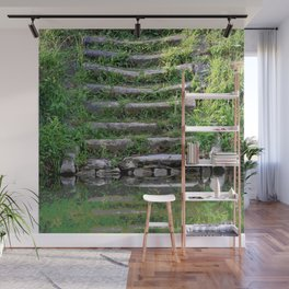 River stairs Wall Mural