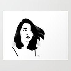 a woman Art Print