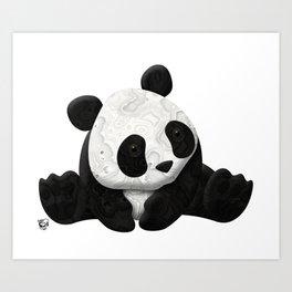 Lace Agate Panda Art Print