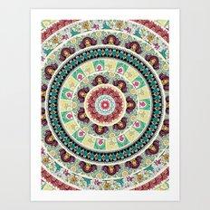 Sloth Yoga Medallion Art Print