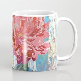 Trio of Peonies - Summer Pastels Coffee Mug