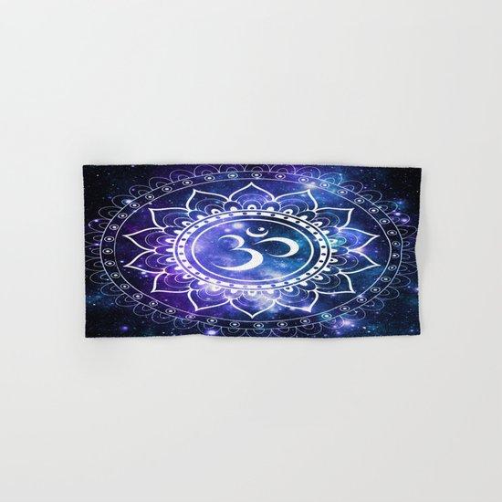 Om Mandala: Violet & Teal Galaxy Hand & Bath Towel