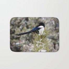 Black-billed Magpie Bath Mat