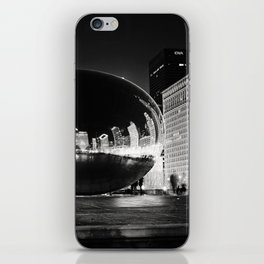 Chicago's Cloud Gate at Night iPhone Skin