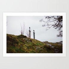 Swords in Rock, Stavanger Norway Art Print