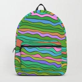 Noisy waves in green Backpack