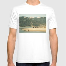 Dog Days of Summer Mens Fitted Tee MEDIUM White