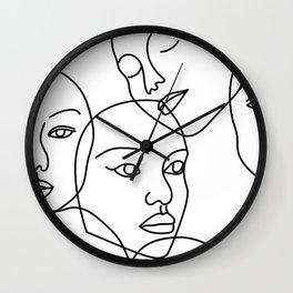Surreal Faces Wall Clock