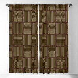 Spirit Mountain Stripe - Brown Blackout Curtain