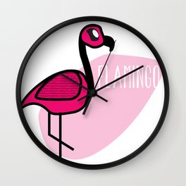 CUTE FLAMINGO Wall Clock