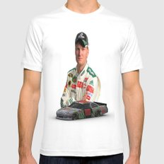 Dale Earnhardt Jr. 3ds Sprint Cup car #NASCAR White Mens Fitted Tee MEDIUM