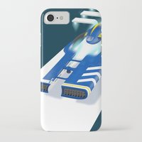 spaceship iPhone & iPod Cases featuring SpaceShip by LoweakGraph