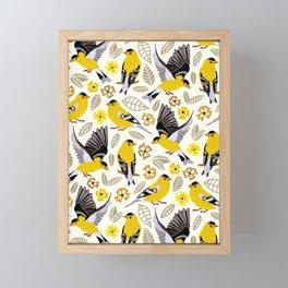 Goldfinches Framed Mini Art Print