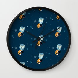 I´m not star fox (Pattern) # dark blue Wall Clock