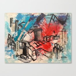 News abstract Canvas Print