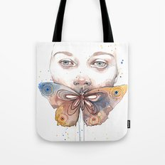 Butterfly, watercolor Tote Bag