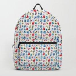 Heartful Yoga Pose Print Backpack