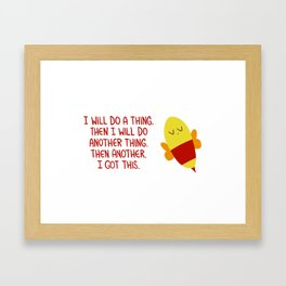 """Do a thing"" bee. Framed Art Print"