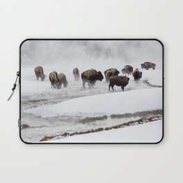 Yellowstone National Park - Bison Herd Laptop Sleeve