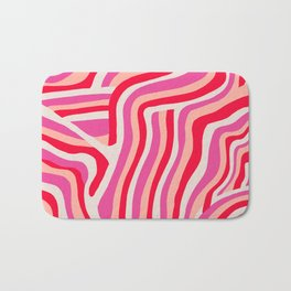 pink zebra stripes Bath Mat