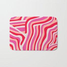 pink zebra stripes Badematte