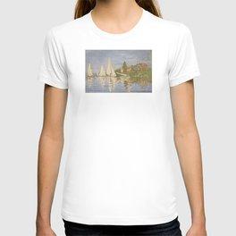 Claude Monet Regattas at Argenteuil T-shirt