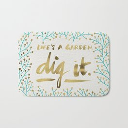Dig It – Gold & Turquoise Bath Mat