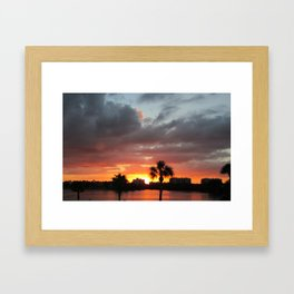 SARASOTA SUNSET Framed Art Print