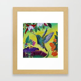 Hummingbird Follow Me  Framed Art Print