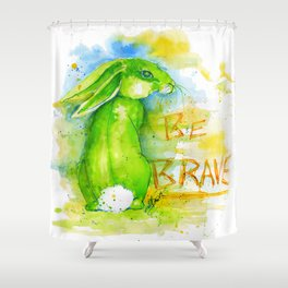 Be Brave In Color Shower Curtain