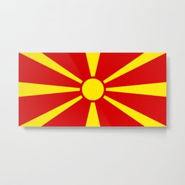 Macedonian Flag - Flag of Macedonia Metal Print