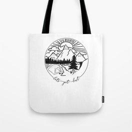 Camping Shirt I Outdoor Nature Travel Backpacker Tote Bag